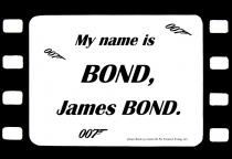Set de table citation film james bond