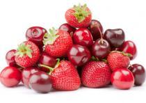 Set de table fruits rouges 2
