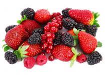 Set de table fruits rouges