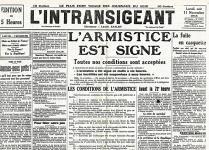 Set de table vieux journaux armistice