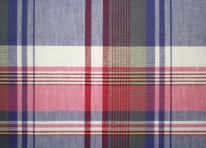 Tissu ecossais bleu et rose